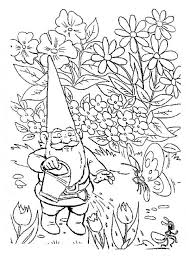 Small Picture David the Gnome Watering His Garden Coloring Pages Batch Coloring