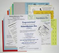 Raffle Tickets Printing Amazon Com Ticketmeister Pro Raffle Ticket Printing Software