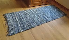 denim rag rug working x furniture denim rag rug