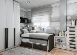white solid wood sliding bed for teenage boys bedroom decoration with white cupboard and white wooden captivating cool teenage rooms guys