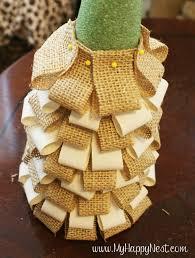 christmas tree using fabric and styrofoam and stick pins | DIY Burlap Trees}  - My