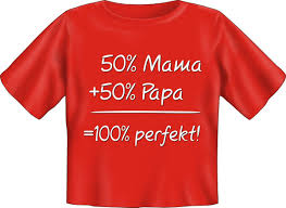 Baby T Shirt Lustige Sprüche 50 Mama 50 Papa Fun Babyshirt On