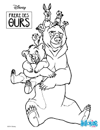 Small Picture Coloring page of the Disney movie Brother Bear Color this bears