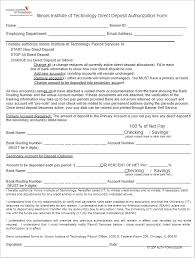 26+ Free Deposit Form Templates Word, Adp | Direct Deposit Forms