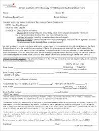 Direct Debit Form 26+ Free Deposit Form Templates Word, Adp | Direct Deposit Forms