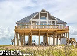 beach house plans on pilings. Island Coastal Raised Piers Bungalow Home Waterfront Plan St Beach House Plans On Pilings