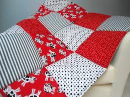 Baby Play Mat Padded Floor Blanket Personalize Cows Red Black ... & Baby Play Mat Padded Floor Blanket Personalize Cows Red Black Modern  Patchwork Quilt Tummy Time Newborn Adamdwight.com