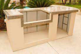 outdoor kitchen island with sink