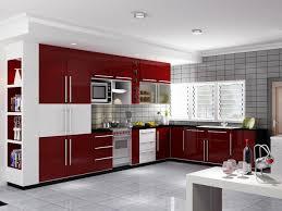 red kitchen 1