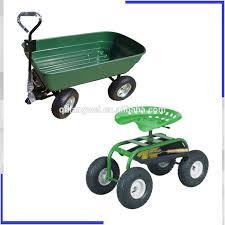 plastic garden wagon zumz new heavy duty garden 4 wheel trolley mesh cart trolley dump