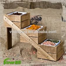 Wooden Fruit Display Stands Magnificent Supermarket Retail Vegetable Assembled Wood Display Stand Rack
