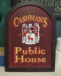 this wooden pub sign was custom made for someone s personal bar