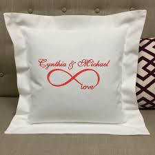 infinity pillow. personalized infinity love pillow wedding gifts anniversary   forever pillows