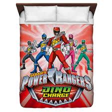 power rangers dino ranger queen duvet cover white 88x88 com