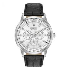 mens citizen eco drive corso black leather strap watch bu2070 04a wat mci 0363