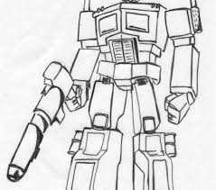 Small Picture Transformers Optimus Prime Coloring Page Wecoloringpage Coloring