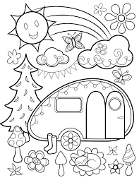 photo coloring page.  Coloring Free Happy Campers Coloring Page By Thaneeya With Photo R
