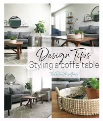 coffee table styling tips and our new