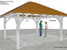 hip roof patio cover plans. 13\u0027 6\ Hip Roof Patio Cover Plans