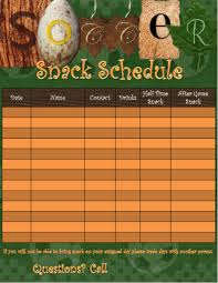 Team Snack Schedule Template This Is A Template To Use For Soccer Snack Scheduling The
