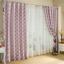 lavender color romantic style designer curtains uk
