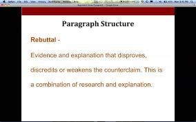 argument writing body paragraph format for high school