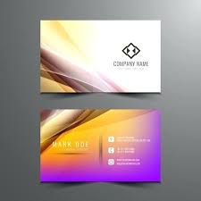 Presentation Card Template Abstract Wavy Visiting Card Template