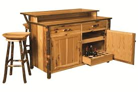 awesome rustic hickory bar kitchen island amish made kitchen islands ideas
