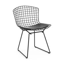 knoll international bertoia outdoor chair black without seat pad