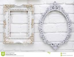white antique picture frames. Royalty-Free Stock Photo White Antique Picture Frames