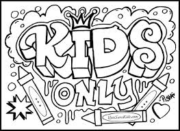 Printable Coloring Pages For Teens - Kids Coloring