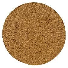 iron gate handspun jute braided area rug 6 feet round handmade 100 natural ecofriendly yarns