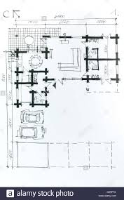 modern architectural drawings. Plain Architectural Modern Architectural Drawing Sketch With Pencil House Plan Stock Photo  G39pfx Design Software Free Download For On Drawings