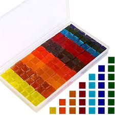 400 Pieces/250 g Multicolor Mosaic Tiles Mosaic Glass Pieces with ...