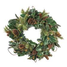 Battery Pack Lights For Wreath 30 Inch Artificial Christmas Wreath Magnolia Leaf