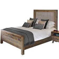 Reclaimed wood bed frame hardwood bed frame modern wood bed barnwood ...