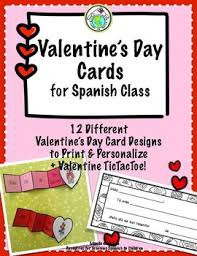 Day Cards To Print Valentines Day Set Of Cards To Print And Personalize Spanish Printables