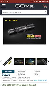 Nitecore Comparison Chart Govx Has The Nitecore Mh12gt On Sale This Weekend For 68 20