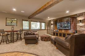 I 15 Outstanding Rustic Basement Design THE TIN BEHIND TV