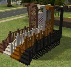 sims silver porch build set