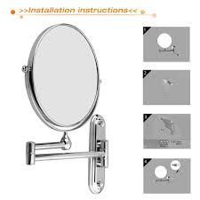 Extendable Mirror Bathroom Amazoncom Floureon 8 Inches Double Sided Wall Mount Makeup