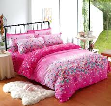 fuschia pink duvet cover summer hot kids bedding sets