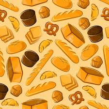 Bakery Products Seamless Background Wallpaper With Vector Pattern