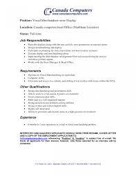 Sample Resume For Merchandiser Job Description Sample Job Description Retail Merchandiser Visual Merchandising 13