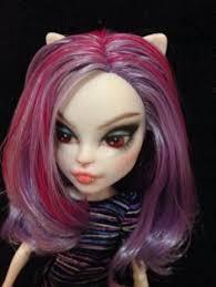 monster high catrine demew ooak custom repaint vire kitty doll
