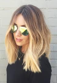 Ombre Blond F R Braune Und Blonde Haare F Rbetechniken Im Trend Blonde Haare Mittellang