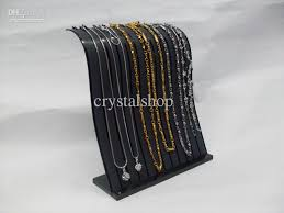 Acrylic Necklace Display Stands WHOLESALE 100 BLACK ACRYLIC NECKLACE BRACELET PENDANT ANKLET JEWELRY 58