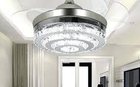 crystal chandelier ceiling fan combo rustic kitchen astonishing