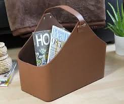 Faux Leather Magazine Holder Contemporary Brown Faux Leather Magazine Rack Newspaper Holder 27