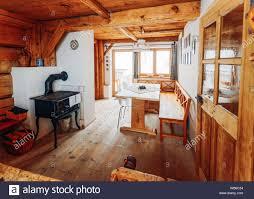 Modernes Design Home Küche Interieur Aus Holz Materialien